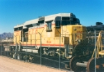 Union Pacific GP30 #844 reposes in the Nevada desert
