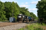 NS 5620, 3393 and 3412 head East into Allentown yard as 35A, along with two D9s.