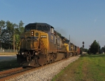 CSX R614 highballing out of town