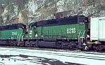 BN 6318 passes on an intermodal