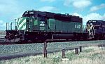 BN 6701 leads this train