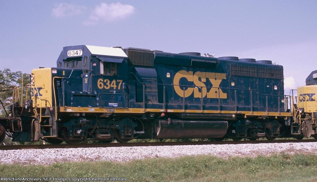 CSX GP40-2 #6347, trailing unit on Q681-25,