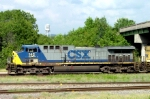 CSX AC4400CW #142, departing the Yard Office with CSX train Q680-20,
