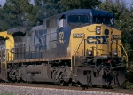 CSX AC44CW #270, with a W081 company ballast train in tow,