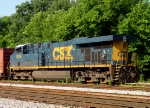 CSX 5219 tied down in the yard