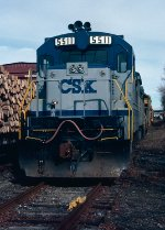 CSX B30-7 #5511, power for the Opelika Work-Extra (local), tied down in the clear after arranging its work and itself for movement to Montgomery's (AL) Chester Yard,