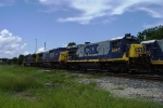 CSX 5845 (B36-7) tied down for July 4th