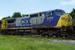 CSX 7777 (C40-8W) tied up in yard for July 4th