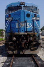 CSX C40-8W #7921, former LMS unit, tied down in the yard