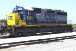 CSX 8357 (SD40-2) in yard