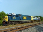 CSX 8582 and 8595 are both former Baltimore & Ohio SD50's that are presently serving as power for the A732 local based in Oglethorpe, GA.  Units tied down on the Storage Track