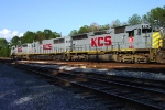 KCS 613 (SD40-3) waiting for a crew in W of A Chester Yard