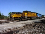 UP 9025 (C40-8) parked next to UP 4931 (SD70M) in the yard