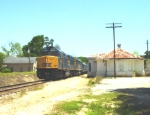 CSX F40PH-2's #9993 and 9992 lead an Office Car Special (OCS) past the depot