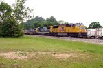 Union Pacific SD70M #4817 leads Atlanta bound train Q614-25 out of Chester Yard