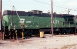Burlington Northern B30-7AB #4071, spotted at the fuel rack,