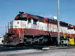 Burlington Northern SD45 #6668, spotted for fueling,