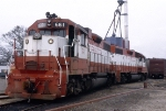 SLSF 661 (GP38AC) and SLSF 645 (GP38AC), power for the Columbus Switch Engine,