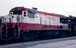 Frisco U25B #820, in front of the Seaboard Coast Line Yard Office,