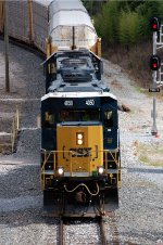 CSX SD40-3 4050 leads train Q282-14 past newly installed signal on the Runaround Track in front of the Yard Office