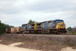 CSX AC44CW's 249 & 369 lead a Junction City (GA) Mining Company southbound on the Fitzgerald Subdivision