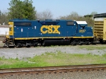 CSX 2657, building his Lineville Subdivision A720 train in the yard,