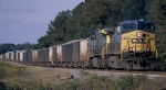 CSX AC44CW #270, with W081-07 company ballast train in tow,