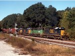 CSX SD40-2 #8239 and HLCX SD40-2 #8086  lead Q551 southbound