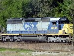 CSX SD40-2 #8444 eases southbound to a stop in front of the CSX Yard Office