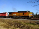 UP 9819 (C44-9W)  and trailing SD40-2 CP Rail 6040, leads Q685-16