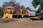 Bay Line GP38's #2050 and 2012 headed back to Dothan after completing work on the branch