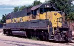Atlanta & Saint Andrews Bay GP38-2 #508, parked on the engine track behind the corporate office,