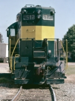 Bay Line GP9 #512, in service on the Abbeville & Grimes branch, on the Golden Peanut spur,
