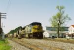 CSX 657 leads an intermodal South