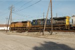UP 7127 and CSXT 9000