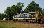 CSX 526 leads train Q776 southbound