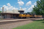 Westbound at historic Kirkwood, MO Station