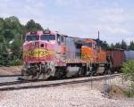 BNSF 542 & 121