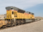 UP 8114 rear pusher in an EB ILBDI (Long Beach - Dallas intermodal) at 8:23am