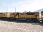 UP 8087 #5 power in a WB doublestack at 8:53am