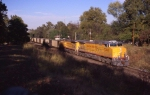 A pair of UP AC44CW's pull an empty coal train back towards the Powder River.