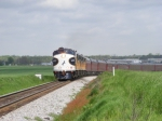 NS 955 highballin' through the fields