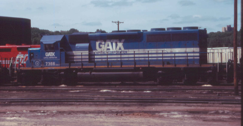 GATX 7366 in the yard