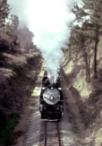 "Southern Railway #2716 (K-4 class 2-8-4 aka C&O ""Kanawha type"" 2716), eastbound towards its turning point of Opelika,"