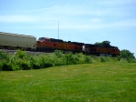 BNSF 5496 and 4412