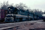Southern Railway #95's extra has a GP38-2, GP38AC and a GP30 for power as it passed the depot