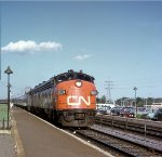 CN 6534 on the westbound Super Continental at Dorval