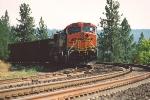 Coal train waits for crew