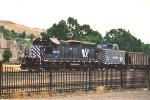 Work train backs into yard