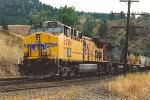Parked grain train